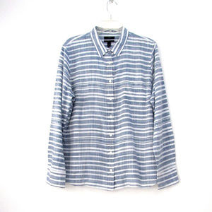 J Crew Womens Boy Shirt Stripe Gauze Size 16